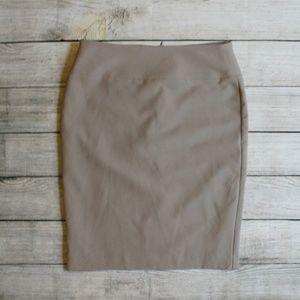 Alfani Taupe Straight Pencil Skirt 4